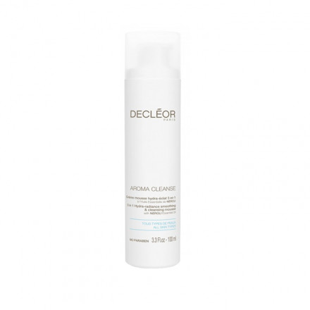 Decleor Paris Aroma Cleanse 3 in 1 Hydra-Radiance Smoothing & Cleansing Mousse All Skin Types 100 ml