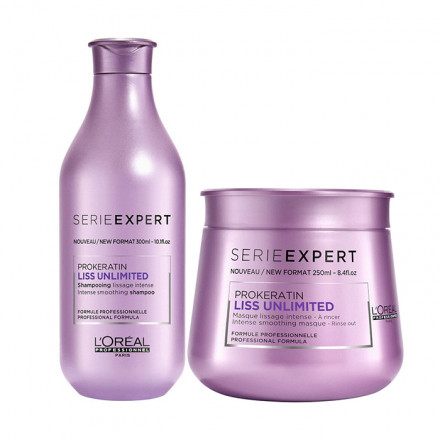 L'Oreal Set Serie Expert Liss Unlimited Prokeratin Shampoo + Masque