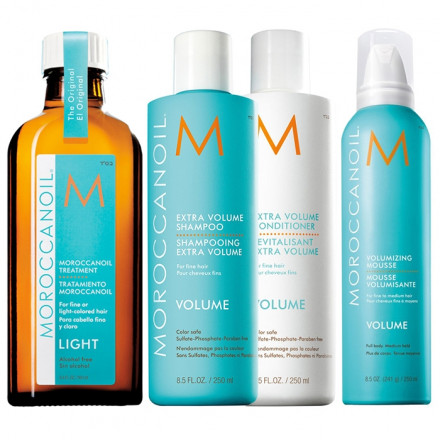 Moroccanoil Set Extra Volume Shampoo + Conditioner + Styling + Treatment Light
