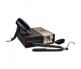 Ghd Ultimate Travel Gift Set Platinum Styler, Flight Hairdryer & Protective Bag