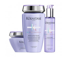 Kerastase Set Blond Absolu Bain Ultra-Violet + Masque + Haarkur