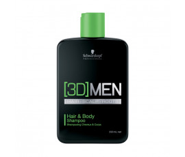 Schwarzkopf Professional [3D]Men Hair & Body Shampoo 250 ml